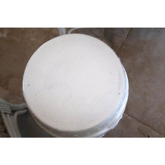 Indian Rings Ceramic Stool For Sale - Image 4 of 6