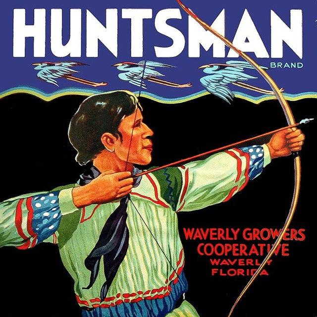 Huntsman Brand, Waverly Florida - Vintage Citrus Crate Label Fine Art Print - Image 1 of 2