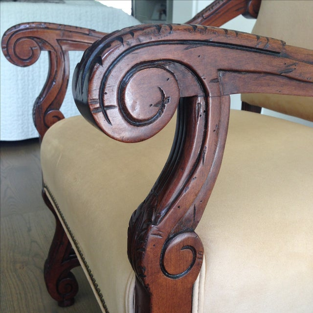 Fremarc Carved Provence Dining Chairs - Set of 6 For Sale - Image 5 of 9
