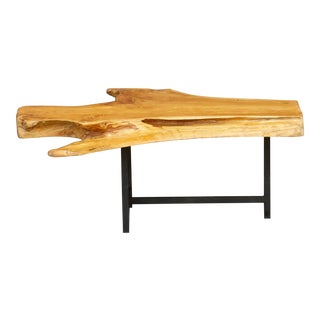 Live Edge Rustic Modern Coffee Table For Sale