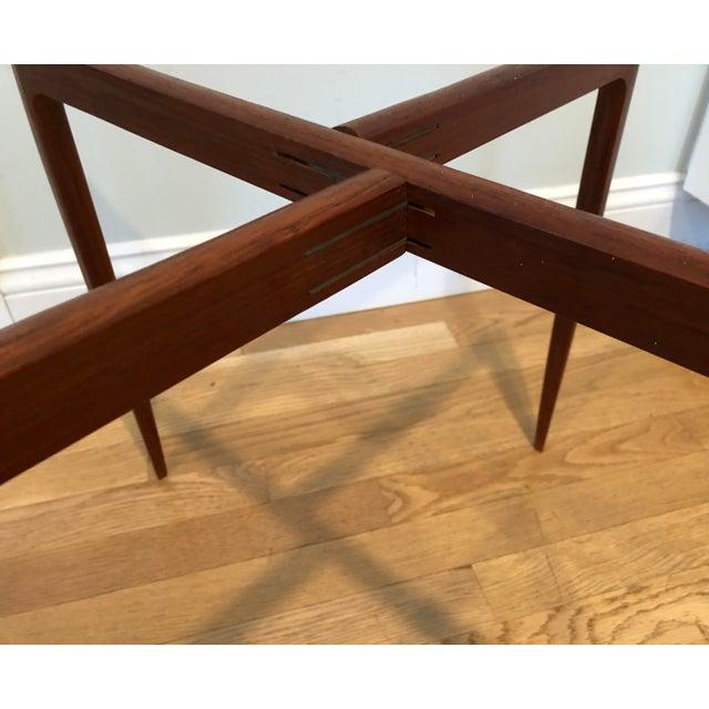 Danish Modern Fritz Hansen Mid-Century Teak Tray Folding Table For Sale - Image 3 of 7