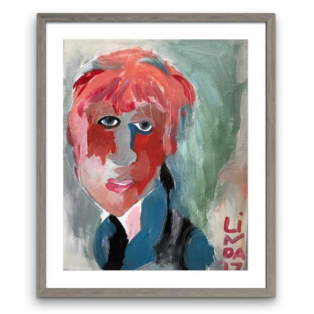 """Early 21st Century Contemporary Abstract Portrait Painting """"It's All Connected"""" - Framed For Sale - Image 5 of 5"""