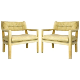 Pair of Milo Baughman Style Parsons Chairs For Sale