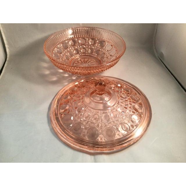 Orange Vintage Peach Glass Dish For Sale - Image 8 of 10