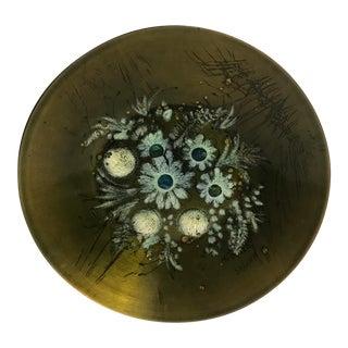 Mid-Century Sascha Brastoff Enamel on Copper Bowl For Sale