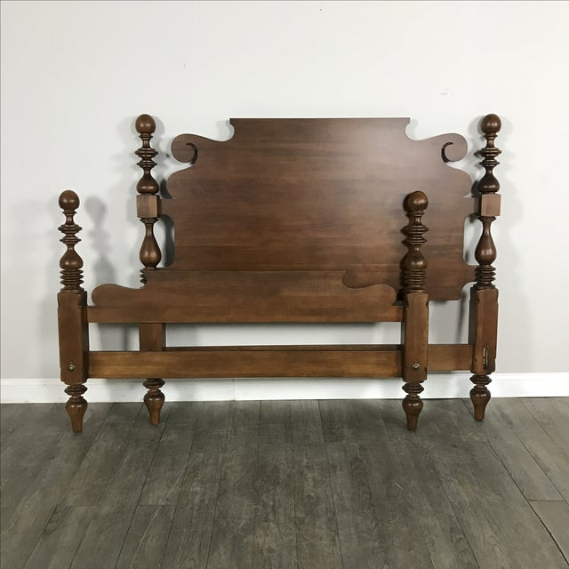 Ethan Allen Traditional Queen Size Bed Frame - Image 2 of 8