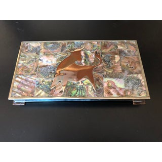 1960s Vintage Taxo Mexican Modernist Box Mixed Metals Bull Preview
