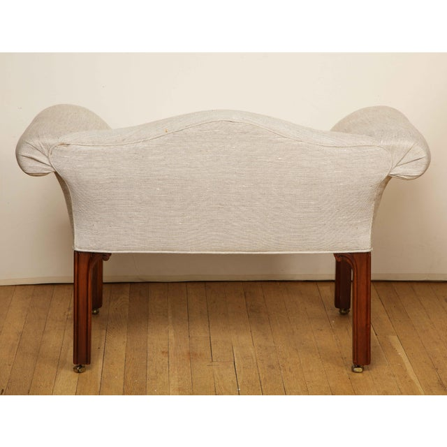 Mid 20th Century Small Camelback Benches - a Pair For Sale - Image 5 of 13