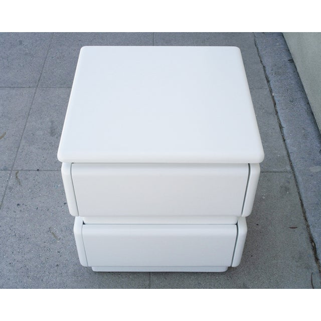 White Lacquer Night Stands by Rougier - Pair For Sale In Los Angeles - Image 6 of 6