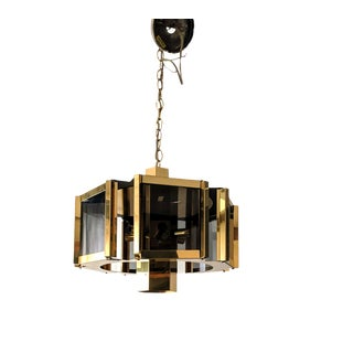 1970s Hollywood Regency Frederick Ramond Brass Chandelier