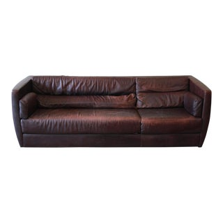 1970s Vintage Roche Bobois Leather Sofa For Sale