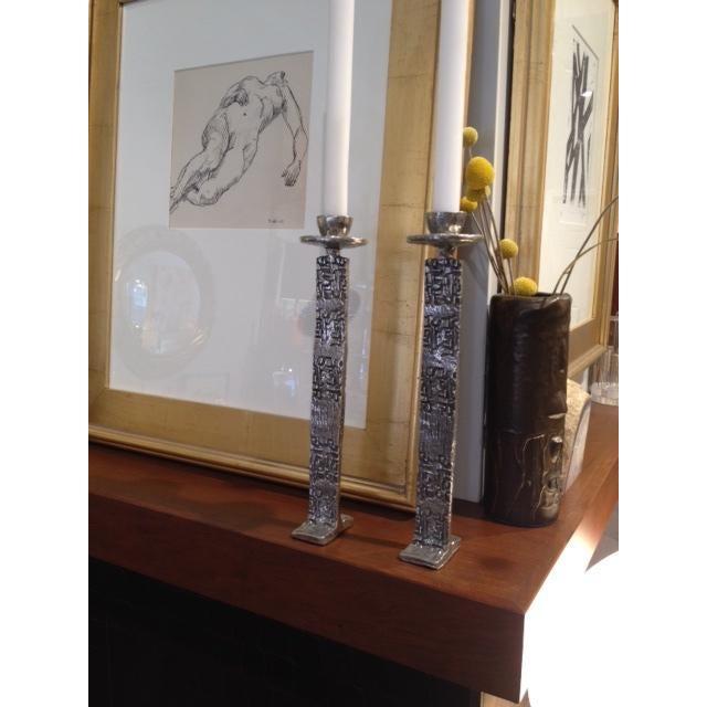 Vintage Modern Brutalist Candle Holders - Image 3 of 6