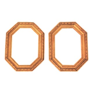 Vintage Octagon Gold Leaf Picture Frames - a Pair