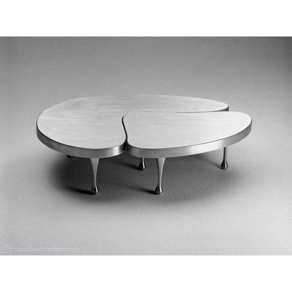 Mid-Century Modern Frederick John Kiesler Cast Aluminium Nesting Coffee Table For Sale - Image 3 of 5
