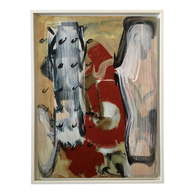 1993 Ranieri Abstract Oil on Masonite Painting - Image 1 of 5