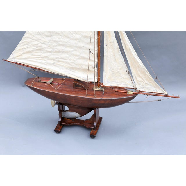 Large Antique English Pond Yacht - Image 3 of 10