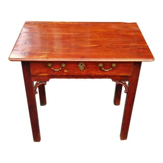 18th C Antique English Mahogany Chippendale Table