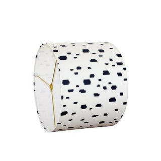Modern Blue Spot Drum Lampshade Preview