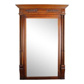 Antique Henry II Walnut Long Wall Mirror For Sale