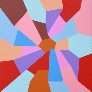 """""""Freedom Must Come"""" Contemporary Geometric Hard Edge Acrylic Painting by Sassoon Kosian For Sale"""