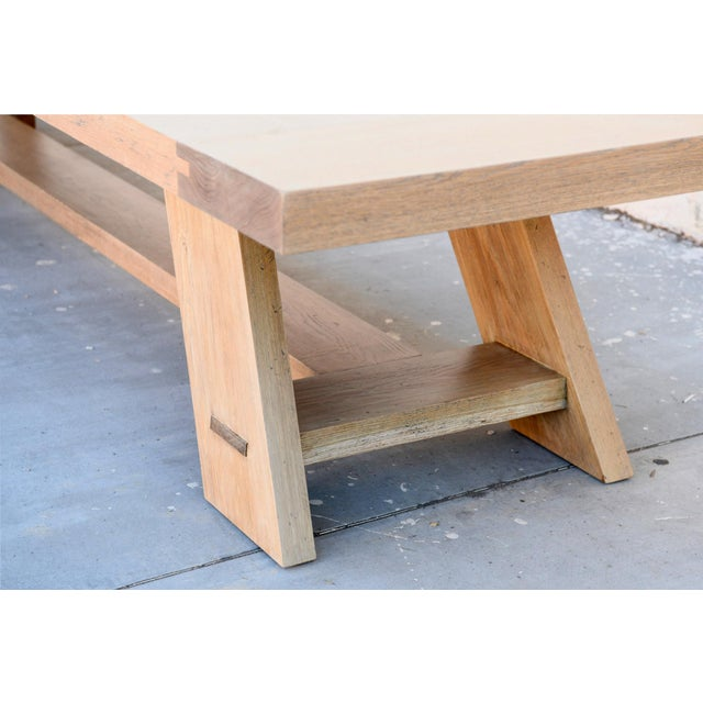 Rustic Banquet Table Made From Rift Sawn White Oak For Sale - Image 11 of 13