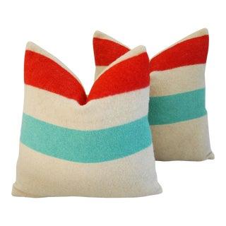 Custom Hudson's Bay Camp Blanket Pillows - A Pair For Sale