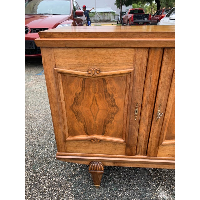 1940s French Solid Walnut Sideboard For Sale - Image 12 of 13