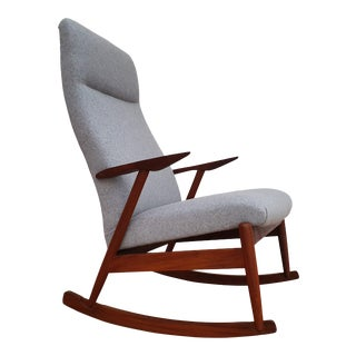 1960s Vintage Scandinavian Design Rocking Chair For Sale