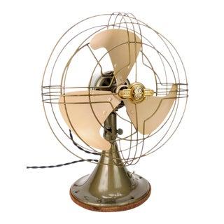1940s General Electric Vortalex Oscillating Electric Desk Fan For Sale