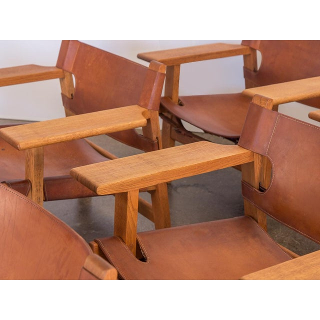 Pair of Borge Mogensen Spanish Chairs for Fredericia Stolefabrik For Sale - Image 10 of 13