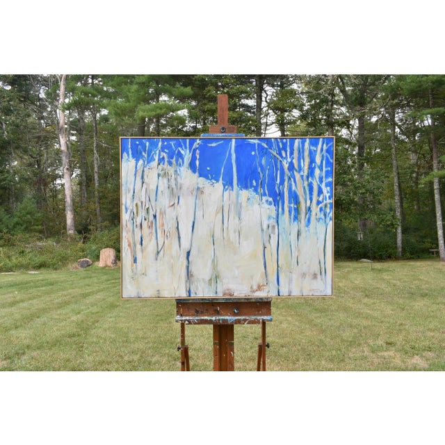 """Abstract """"Have You Ever Seen a Sky So Blue"""" Painting by Stephen Remick For Sale - Image 3 of 10"""