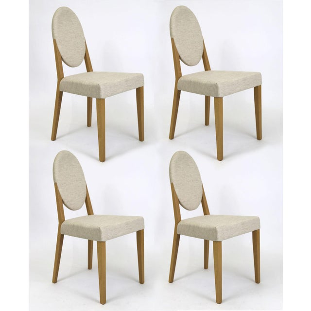 Idealsedia Italian Oval Back Dining Side Chairs - Set of 4 - Image 2 of 9