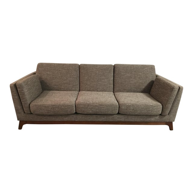 Mid-Century Walnut Couch - Image 1 of 3