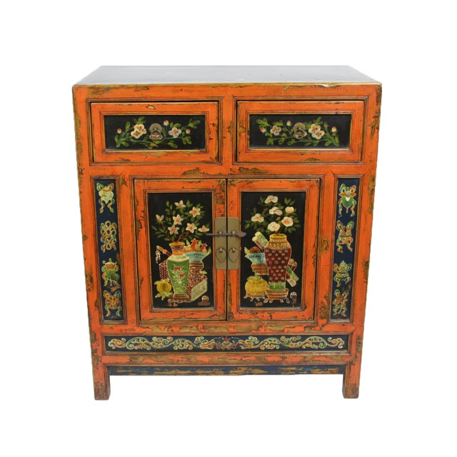 Small Mongolian Painted Cabinet - Image 2 of 4