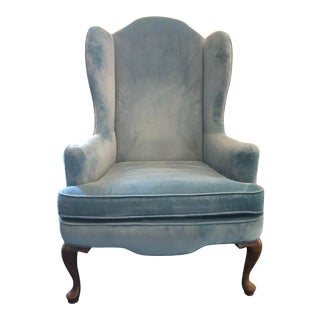 Traditional Ethan Allen Wingback Chair For Sale