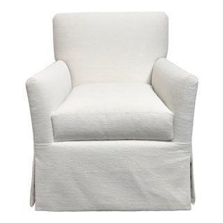 RJones White Skirted Stewart Lounge Chair For Sale