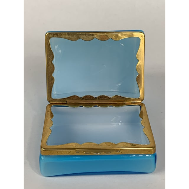 Glass Early 20th Century Turquoise Murano Casket Box For Sale - Image 7 of 9
