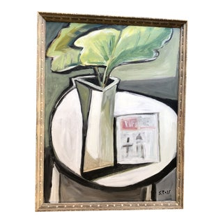 Original Modernist Stewart Ross Still Life Painting For Sale