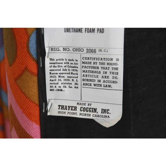 Milo Baughman for Thayer Coggin Parsons Style Club Chairs in Outstanding Larsen Fabric For Sale - Image 12 of 13