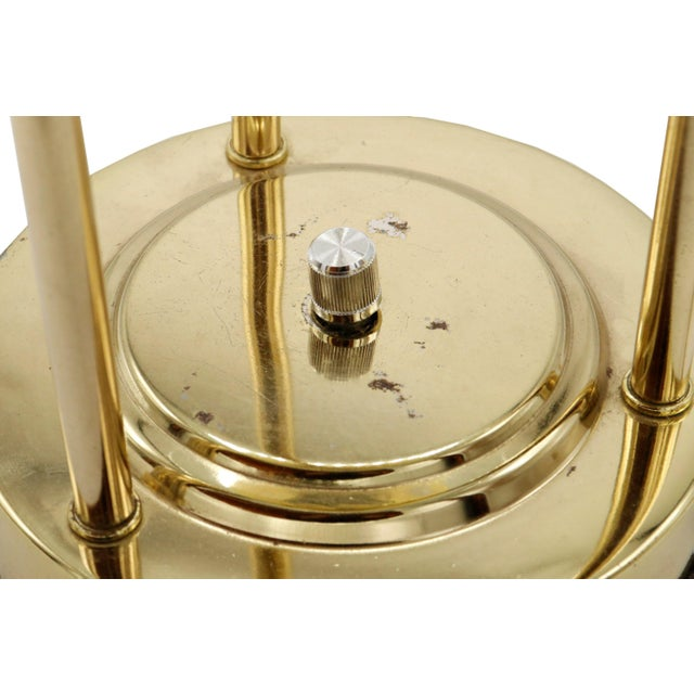 Metal 1970s Italian Mid Century Polished Brass and Glass Table Lamp With a Dimmer Switch For Sale - Image 7 of 9