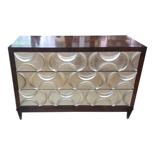 Caracole Three Drawer Silver Leaf Chest
