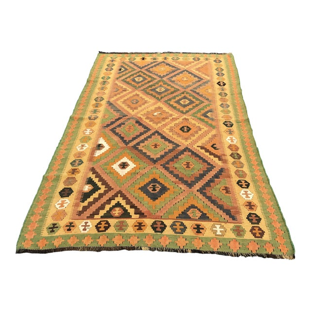 Qashqai Hand-Woven Kilim Rug, From Iran For Sale