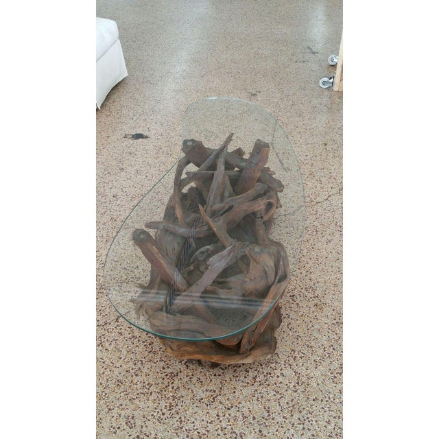 1970s 1970s Vintage Tangled Biomorphic Driftwood Cocktail Table For Sale - Image 5 of 6