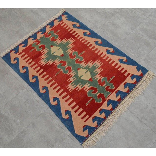 "New Turkish Hand Woven Oushak Rug - 2'11"" X 3'10"" - Image 3 of 6"