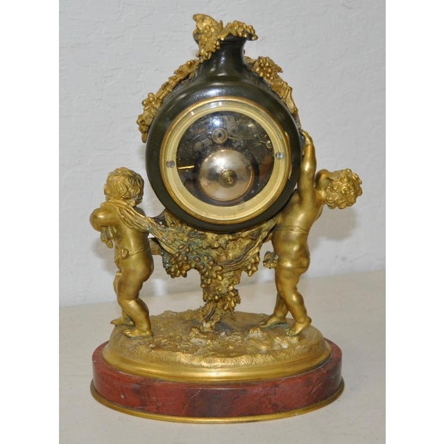 Auguste Moreau Auguste Moreau Bronze & Marble French Mantle Clock 19th Century For Sale - Image 4 of 10