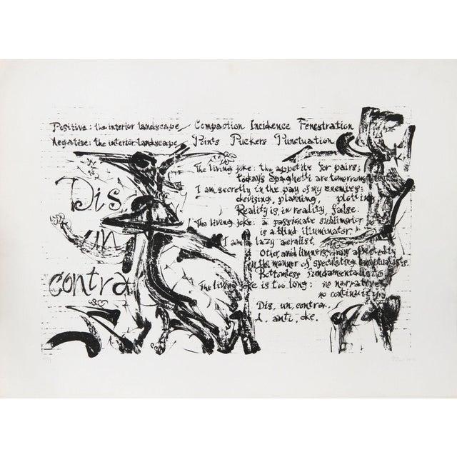 Dimitri Petrov, Dis, Un, Contra, Lithograph For Sale
