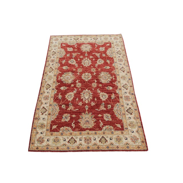 Wool Hand Knotted Pakistan Rug 4′4″x 6′4″ For Sale