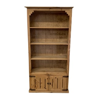 Rustic Pine Bookshelf Made in Mexico For Sale