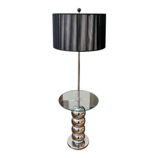 Vintage 1960s George Kovacs Stacked Chrome Ball Floor Lamp For Sale