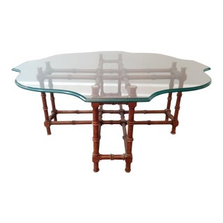 Modern Faux Bamboo Coffee Table For Sale